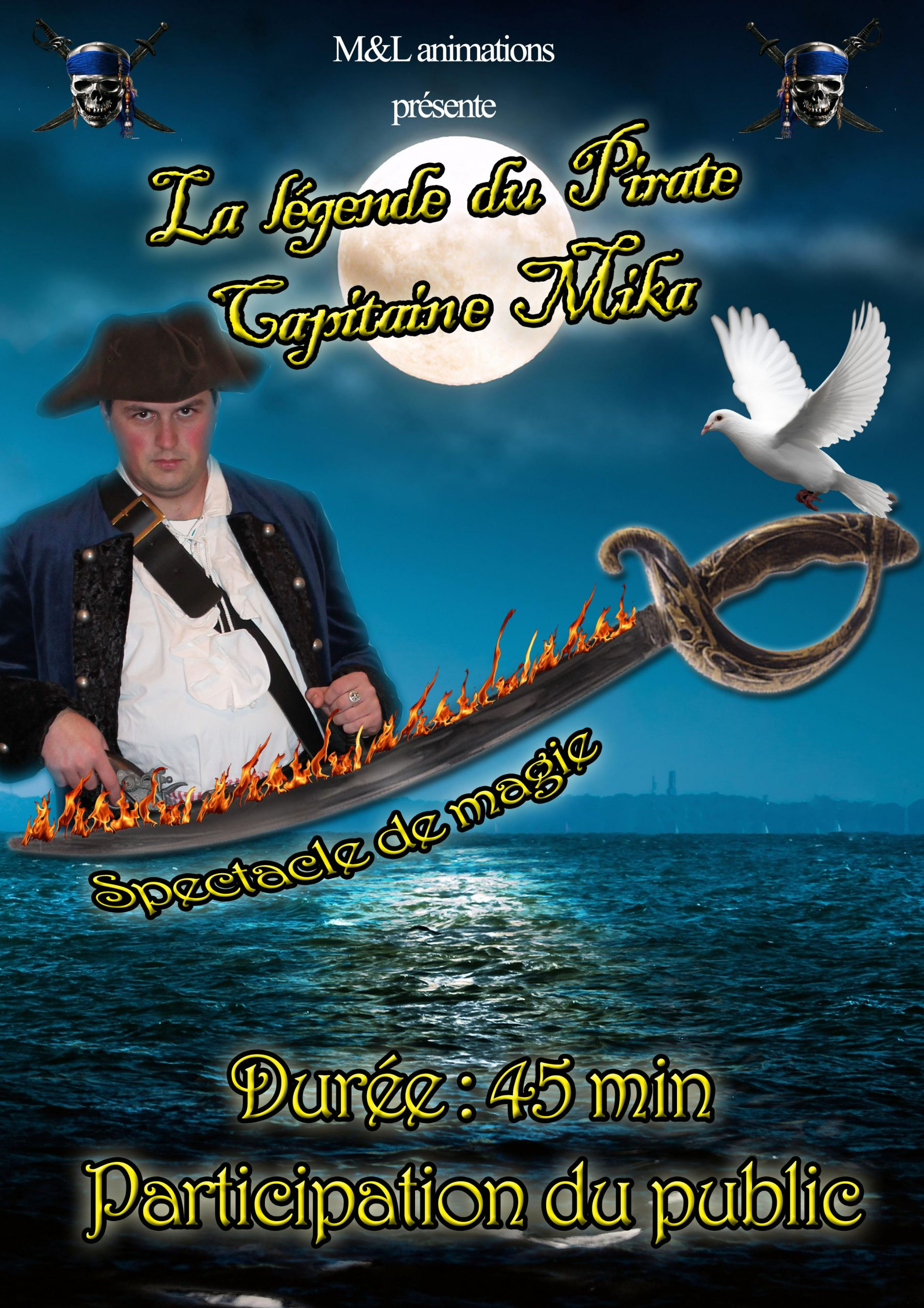 Affiche spectacle magie pirate
